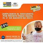 Amplían plazos para pagar impuestos en Cúcuta